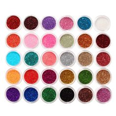 30 Mixed Colors Glitter Powder Eyeshadow Pigment Set Mineral Spangle Eye Makeup