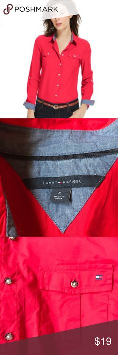 Tommy  Hilfiger button-down shirt Excellent condition size medium 100% cotton Tommy Hilfiger Tops Button Down Shirts