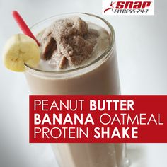 This peanut butter banana oatmeal protein packed shake is perfect for ...