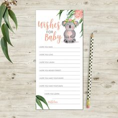 Australian Animals Wishes for Baby Printable Cards Australian Animals Wishes for Baby Printable Cards,Simple life hacks A perfect addition for an Australian, Australian animal or koala themed baby shower. These printable Wishes for Baby. Baby Shower Themes, Baby Boy Shower, Baby Showers, Shower Ideas, Adeles Baby, Kid Life Hacks, Kate Baby, Wishes For Baby Cards, Baby Dedication