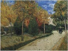 Van Gogh painted this view of The Public Park at Arles in 1888.  Please view our website for more information.