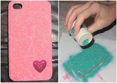 Glitter Cell Phone Case diy