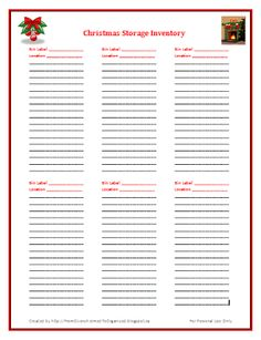 From Overwhelmed to Organized: Christmas Storage Inventory List {Free Printable}