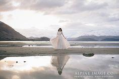 Winter reflections by Lake Wanaka, New Zealand. Photography by Alpine Image Company.