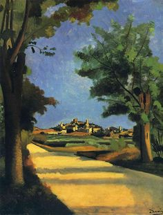 'die Straße', öl auf leinwand von André Derain (1880-1954, France)
