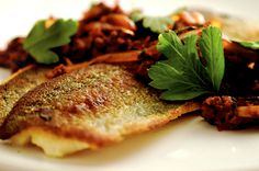 Rick Bayless | Trout with Chorizo, Caramelized Onions and Dark Beer