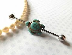 Turquoise Turtle Industrial Barbell Body Jewelry Ear Jewelry 1 12 – industrial piercing, You can collect images you discovered organize them, add your own ideas to your collections and share with other people. Ear Jewelry, Cute Jewelry, Body Jewelry, Stone Jewelry, Jewelry Stand, Jewlery, Jewelry Ideas, Dainty Jewelry, Simple Jewelry