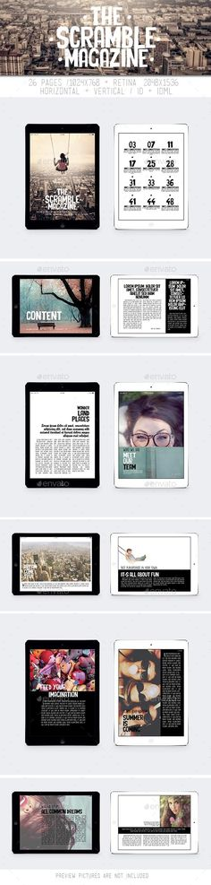 Tablet The Scrumble Magazine Template #emagazine #design Download: http://graphicriver.net/item/tablet-the-scrumble-magazine/11061193?ref=ksioks