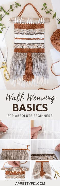 Learn the basics of wall weaving in this tutorial for absolute beginners | DIY home decor | DIY woven wall hanging
