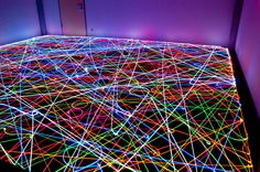 Hey, anyone: can I borrow your Roomba? Fans of light art, check out the ROOMBA ART here, done with LED lights & long-exposure photography. The end result looks like neon pop art! I LAWV EET. Light Painting, Painting Art, Exposure Lights, Exposure Time, Long Exposure Photos, Taste The Rainbow, Light Installation, Light Photography, Exposure Photography