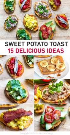 Sweet Potato Toast - 15 Delicious Ideas to try today - paleo, gluten free, clean eating, and vegan choices.