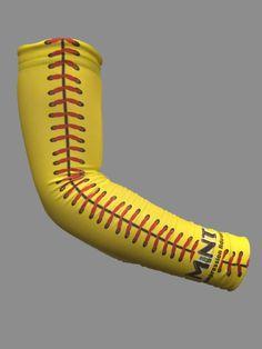 Yellow Softball Arm Sleeve
