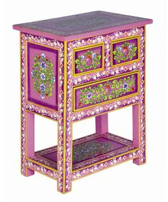 Take a look at this Fuchsia Cabinet by Karma Living on #zulily today!