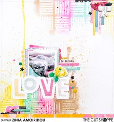 Here's the latest layout I created for @thecutshoppe. I thought it would be really fun to use one of the cut files as stencil and create a resist look using my gelatos. You can find all the details on the cut shoppe blog or watch the process video on my YouTube channel (search Zinia Amoiridou). #scrapbook #scrapbooking #memorykeeping #scrapbookprocess #scrapbookingprocess #scrapbooklayout #scrapbookinglayout #scrap #mixedmedia  #paint #watercolor #watercolour #TheCutShoppe #CutFiles…