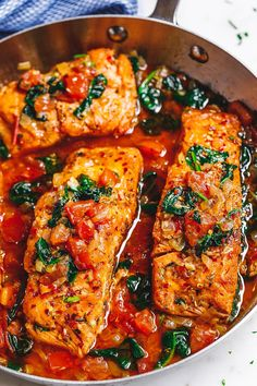 Tuscan Garlic Butter Salmon – – This easy and healthy salmon recipe takes just a few minutes of prep and makes a perfect weeknight meal in 30 minutes or less. – by Tuscan Garlic Butter Salmon – – This easy and healthy salmon recipe takes just a few … Salmon Dishes, Fish Dishes, Seafood Dishes, Seafood Recipes, Cooking Recipes, Healthy Recipes, Cooking Icon, Sushi Recipes, Copycat Recipes