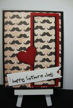 It's a Mustache Father's Day by YLM - Cards and Paper Crafts at Splitcoaststampers