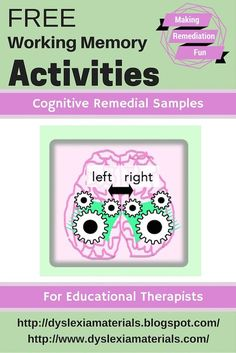 about Strengthening Working Memory with Free Sample Activities Learn about Strengthening Working Memory with Free Sample Activities!Learn about Strengthening Working Memory with Free Sample Activities! Brain Based Learning, Learning Skills, Auditory Processing, Study Skills, Life Skills, Learning Support, Working Memory, Special Education Teacher, Gifted Education