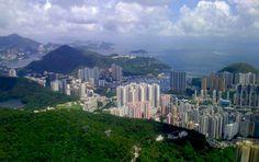 view from my room at matilda hospital, on the peak, hong kong