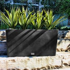 Veradek Midori Trough Planter - Sleek and modern, the Veradek Midori Trough Planter is the perfect piece for creating privacy or filling an empty space. This planter makes the pe...