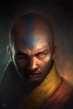Avatar The Last Airbender & Legend of Korra Aang, an art print by Rob Joseph - INPRNT Avatar Aang, Avatar Airbender, Team Avatar, Live Action, Legend Of Aang, Avatar Series, Iroh, L5r, Fandoms