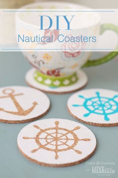 Easy Crafts To Make and Sell - Easy Nautical Coasters - Cool Homemade Craft Projects You Can Sell On Etsy, at Craft Fairs, Online and in Stores. Quick and Cheap DIY Ideas that Adults and Even Teens Can Make http://diyjoy.com/easy-crafts-to-make-and-sell