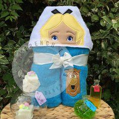 5x7 Wonderland Girl Hooded Towel Design by FrenchFrillsDesigns