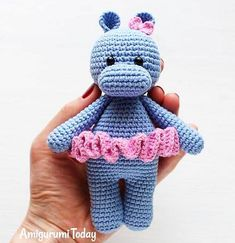 Cute Hippo Girl - free crochet pattern and phototutorial