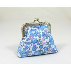 Coin purse, frame pouch, liberty cotton, change purse, gift for her ($19) ❤ liked on Polyvore featuring bags, wallets, floral wallets, pouch bag, cotton pouch, change purse and change purse wallet