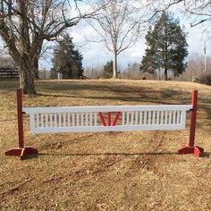 """Ladder Gate Center """"V"""" Design Wood Horse Jumps"""