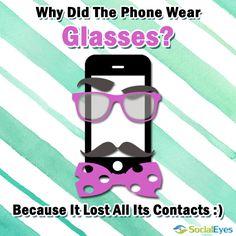 ebdc3dad375 Why did the phone wear glasses joke Optometry