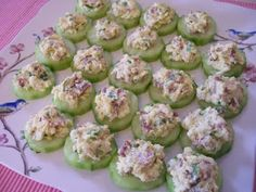 Use cucumbers in place of crackers. I LOVE cukes, so this is a great idea!
