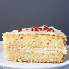 ThisGluten-Free Vegan Vanilla Cake is moist and fluffy, covered in a silky buttercream, and simple yet delicious! Refined sugar free.