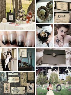 Lovely Design Girl: Halloween and Gothic Wedding Ideas