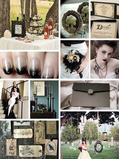 Gothic Wedding Decoration Ideas | ... faded feel of this Vintage Gothic theme. Channel a bit of Victoriana
