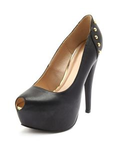 Keyhole Stud Back Pump Design works No.249 |2013 Fashion High Heels|