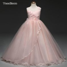 Cheap girls dress, Buy Quality princess dress directly from China girl dresses for weddings Suppliers: Yeedison Cute Princess Dress Wedding Girl Sleeveless Flower Girl Dresses for Weddings O Neck Girl Party Dress Kids Clothing