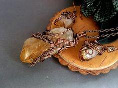 Wire wrap set jewelry in handmade citrine jewerly от ElanorStudio