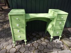 "well...you'd have to find the perfect vanity though... see ""split a desk into two sidetables"""