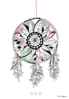 New Illustrations 2012 / 2013 - Laura Blythman Studio Navajo Art, Art Et Design, Dream Catcher Native American, Street Art, Zen Art, Design Graphique, Illustration Girl, Print Patterns, Pattern Print