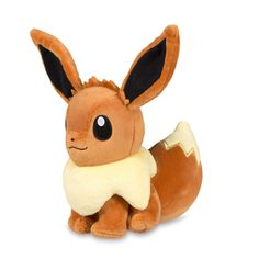 Official Eevee Poké Plush. Highly detailed version of this fan-favorite Pokémon with floofy tail, embroidered eyes, and most excellent ears.