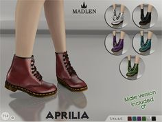 Madlen Aprilia Boots  Found in TSR Category 'Sims 4 Shoes'