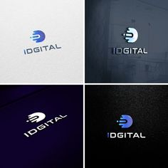 Logo design for a new Artificial Intelligent technology company Design by Doodlerette Typography Logo, Logo Branding, Lettering, Logos, Initials Logo, Monogram Logo, Dm Logo, Internet Logo, Intelligent Technology
