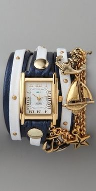 nautical jewelry. love these wrap watches