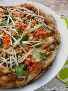 The best Thai chicken pizza!