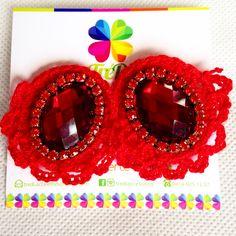 Amantes del rojo! Tejido en Crochet y Soutache