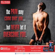 The Pain May Come Over You ...... But Never Let It Overcome You. www.drorthooil.com | 24X7 Helpline: 0171-3055100 #drorthoayurvedicoil , abh dard bhi ghutne tekega.
