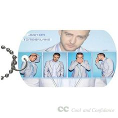 Custom Justin Timberlake Pet Dog Tag pendant necklace Chain #DIY