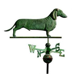 wiener dogs will show the way ...  #woof #weather Vane #Doxie ♥ Love