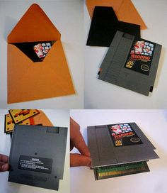 If my brothers cared about sending nice invitations to events they would love this. Nintendo Wedding Invitations