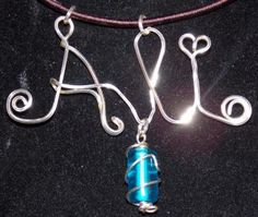 Name Pendant. silver or gold German wire by HavinganArtAttack for $18.99